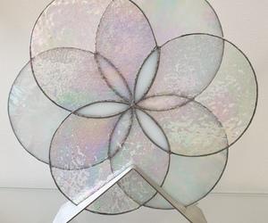 Fleur de Vie blanche irisée